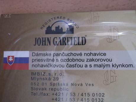 Dámske čierne pančuchy John Garfield, L