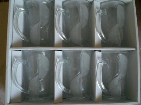 Sklenice-Skleničky z varného skla,