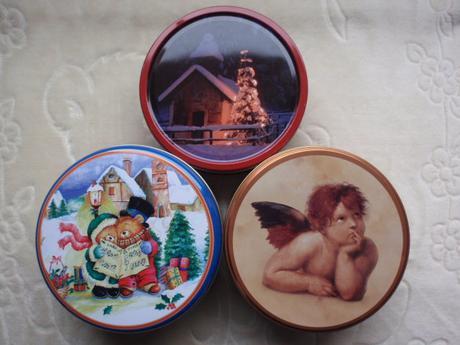 Vánoce-Vánoční Dekorace-Dóza-Krabička kulatá,
