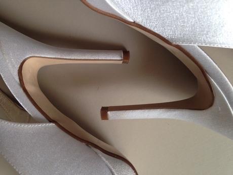 Svatební obuv bílá s kamínky, 40