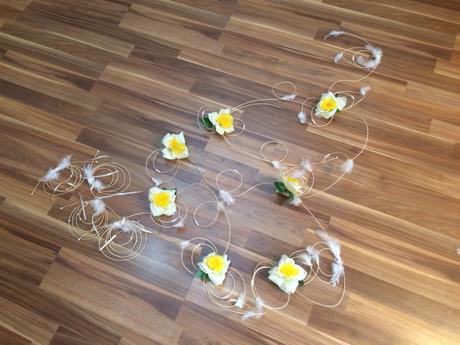 Kytky na auto nevěsty,