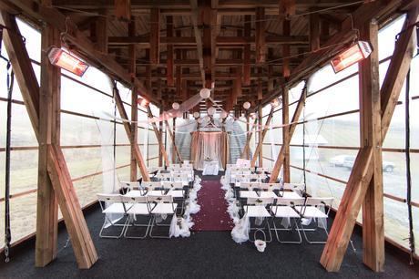 Kompletní výzdoba pro pod/zimní rustikální svatbu,