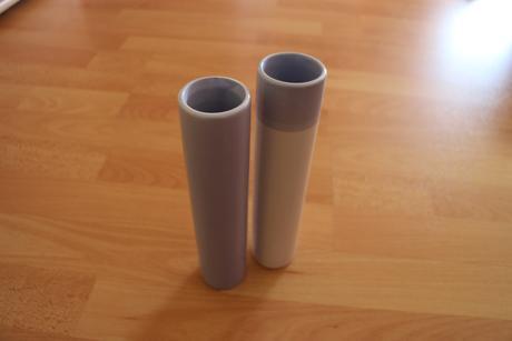 2x modro-bílá váza,
