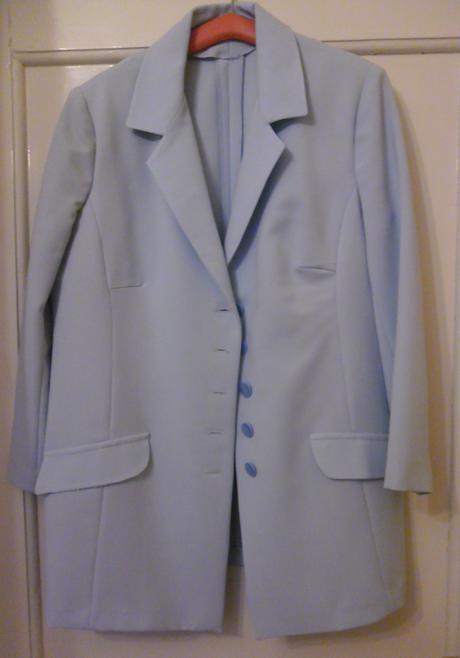 modrý šatový kostým svadobnej mamy, XXL