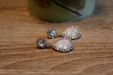 Luxusné náušničky s použitím Swarovski crystals,