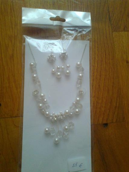 náhrdelník + naušnice,