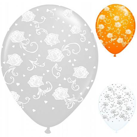 Balóny s aplikáciou ruží 50 ks v balení ,