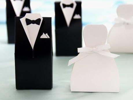 Krabičky na darčeky pre svadobných hostí ,