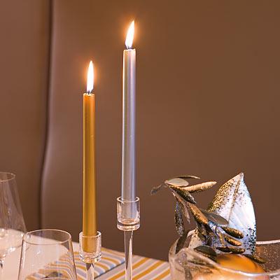 Strieborné sviečky 2 ks ,