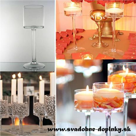 Svietnik/váza, 28 cm - vysoká elegancia,
