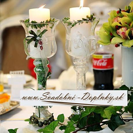 Svietnik/váza - dutá noha - nové možnosti dekorova,