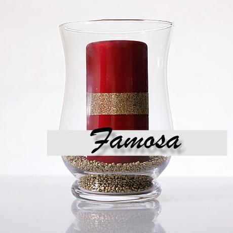 Váza/svietnik 20 cm - hrubé sklo ,