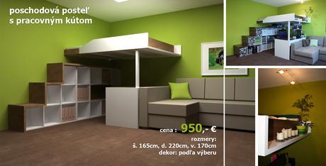 Manželská poschodová posteľ do bytu alebo domu,