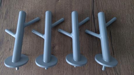Modrené vešiaky - vlastná výroba,