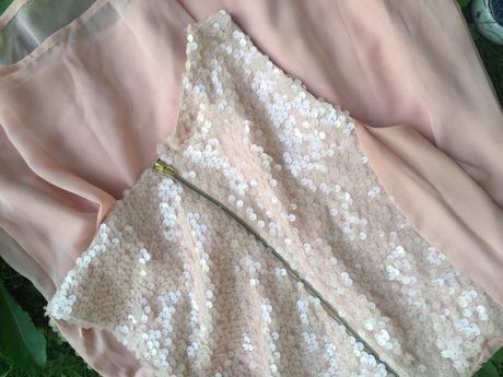 šifónové šaty s flitrami, vel. S, S