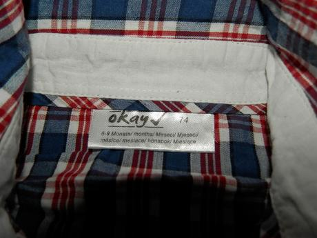 Košeľa 1x oblečená - 74, 74