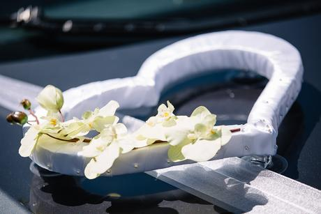 Srdiečka na svadobné auto,