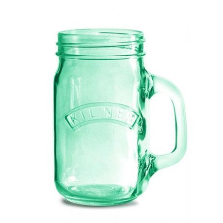 4 ks Kilner sklenice s uchem, 0,5 l - zelené,