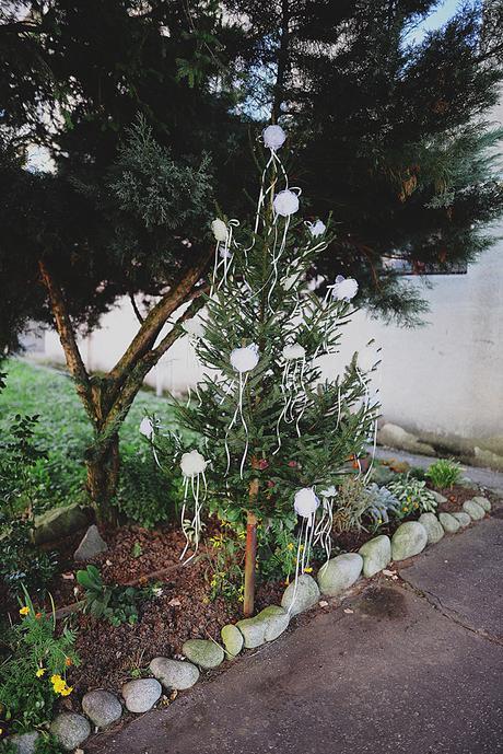 Svadobné ružičky - ozdoba na auta/strom - komplet,
