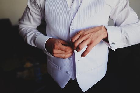 Značková svadobná vesta, kravata a vreckovka -set, 46