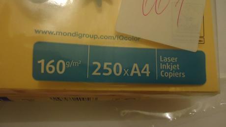 Meruňkový papír A4,