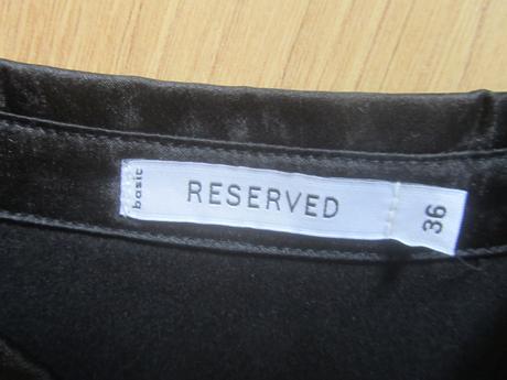 Cierna satenova bluzka Reserved 36, 36