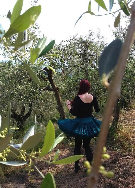 Dolly sukňa - modrý vtáčik, L