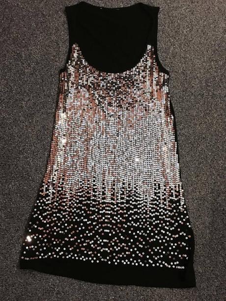 strieborné šaty H&M , M