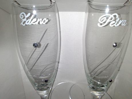 Gravírované poháre,