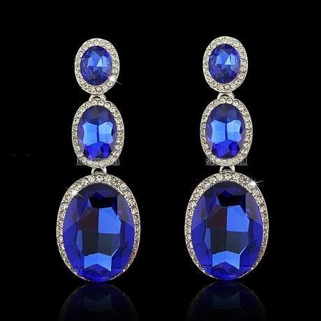 Kráľovsky-modré náušnice,