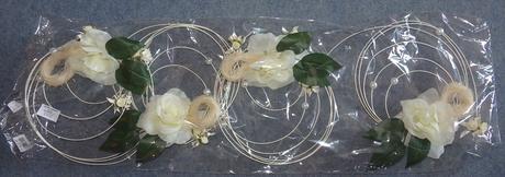 Ratanové kružky s ružami,