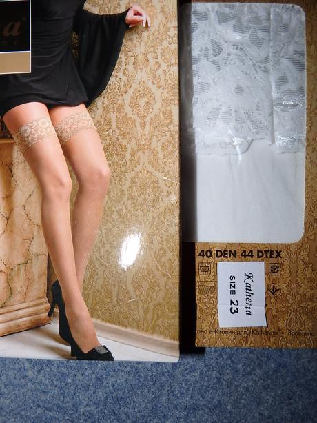 samodržky - biele silonky, 38