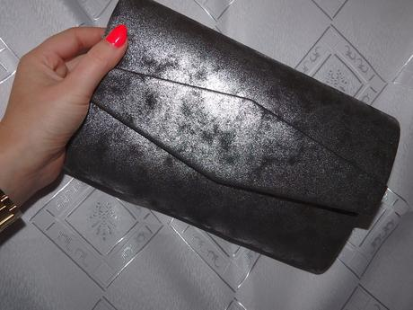 Strieborno-čierna melírová kabelka,