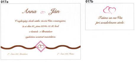 Svadobné oznámenia - výroba,