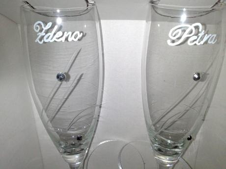 Svadobné poháre - modré,