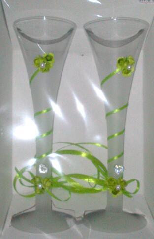 Svadobné poháre - zelené,