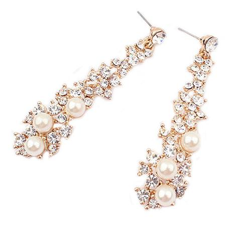 Zlaté náušnice s perličkami,
