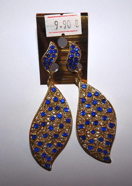 Zlato-modré náušnice,