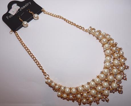 Zlato-perličkový náhrdelník,