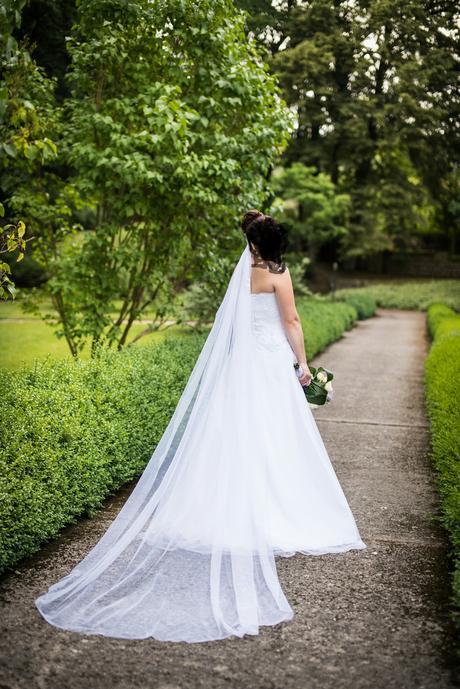 Svatební šaty šité od švadleny, 39