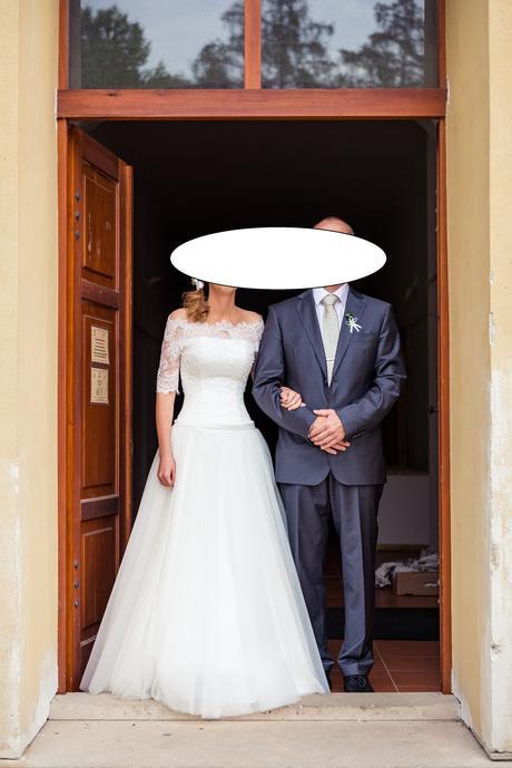 Svatební šaty s krajkou 34/36, 34
