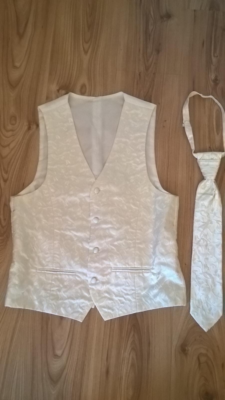 Pánská svatební vesta s regatou 090f4eec38