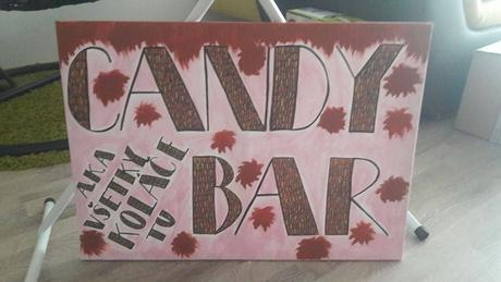 Candy bar - nápis na plátne,