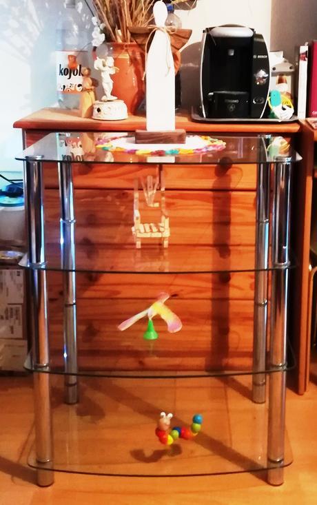 stolík - sklo,kov,