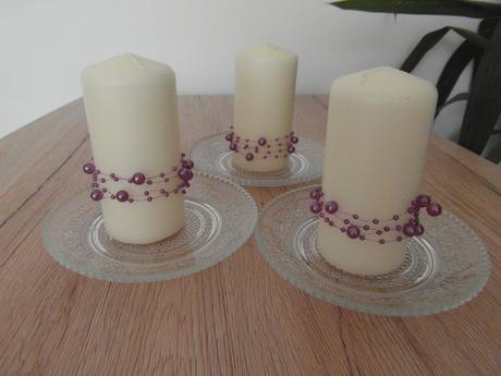 Svíčky s talířky,