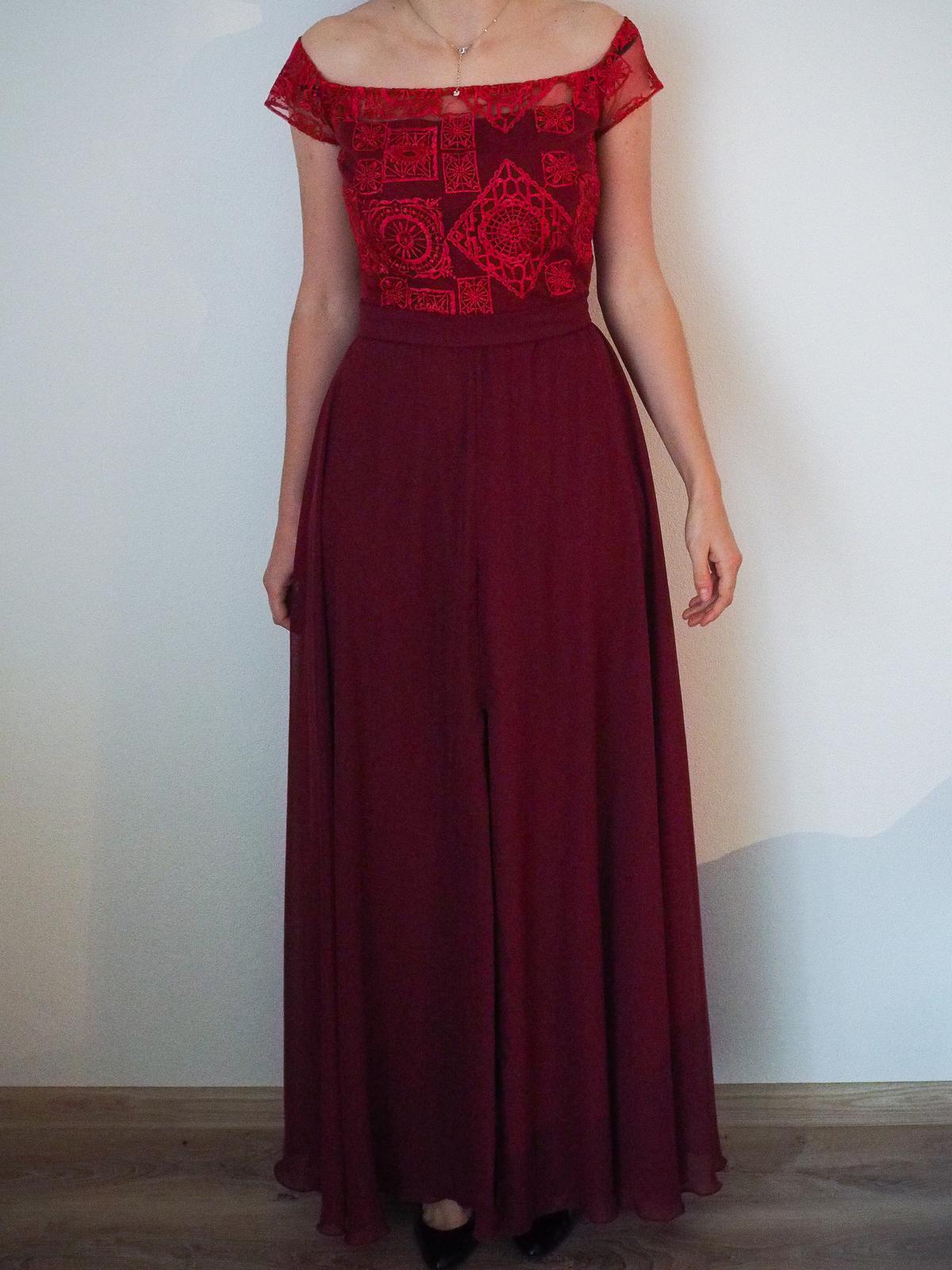 feee4220d056 Spoločenské šaty dlhé bordové