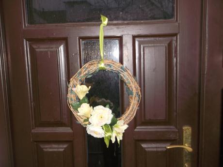 Jarný-jesenný veniec na dvere,