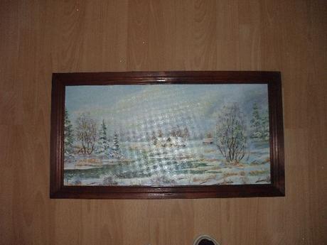 Obraz-zimna krajinka,