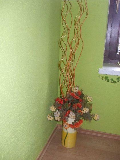 Vaza+ dekoracia,