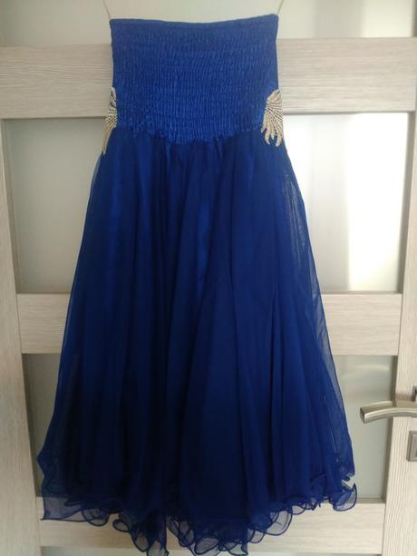 Krátke modré šaty 36/38, 36